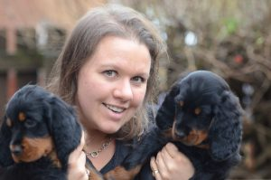 Jane and puppies 2014